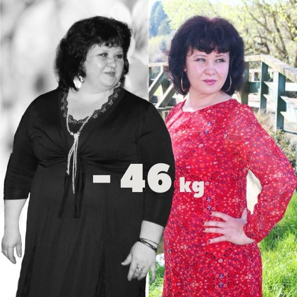 Евгения Дерунова похудела на 46 кг