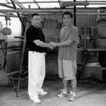 С Учителем Хатцуо Рояма. Япония. Давно.